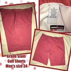 Grand Slam Men's Golf Shorts sz 34 dark Coral